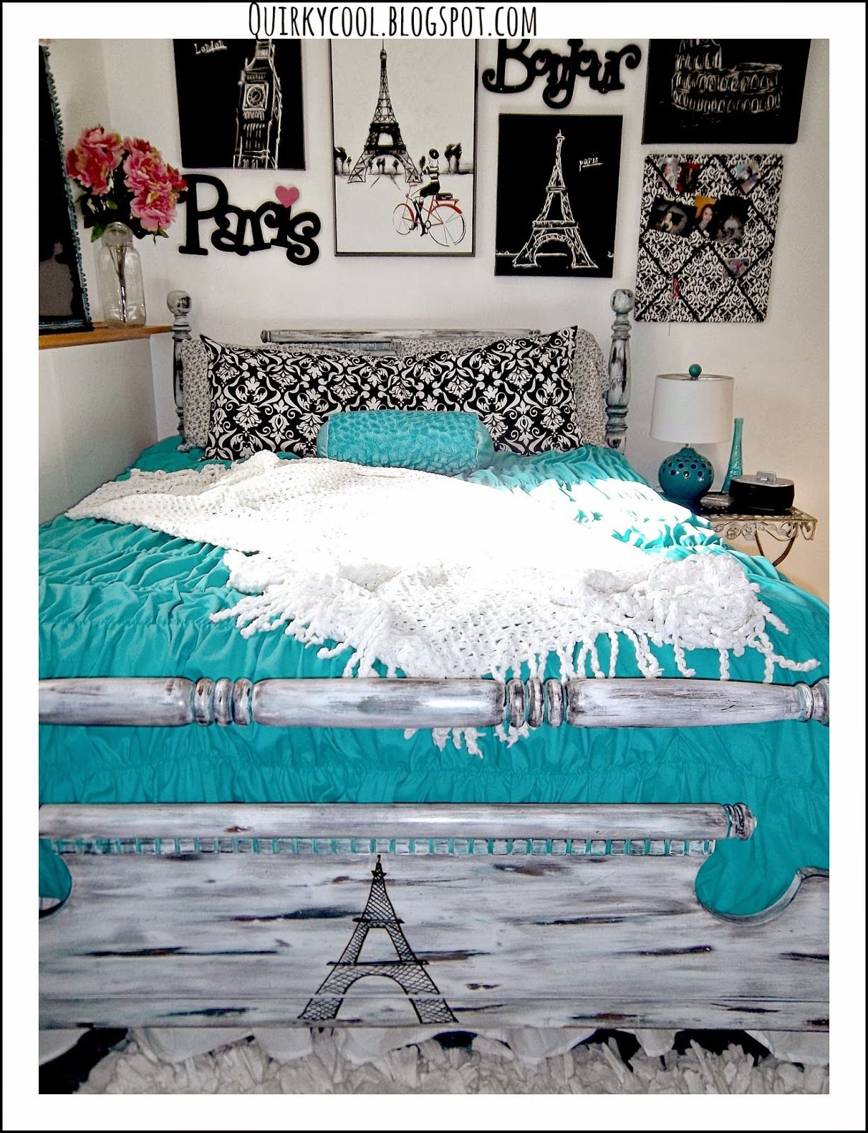 Paris Themed Teenage Bedroom Quirky Cool A Parisian Chic Room That Diy Party Highlights