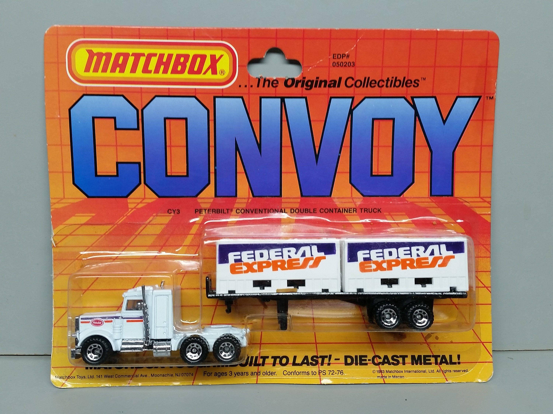 Matchbox Peterbilt Conventional Double Container Truck Cy 3 Federal Express 1983 Matchbox Peterbilt Container Truck [ 2250 x 3000 Pixel ]