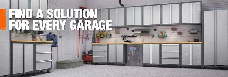 Garage Storage Cabinets Garage Organization At The Home Depot Home Depot Garage Storage Garage Storage Garage Storage Solutions