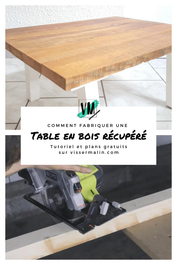 Comment Fabriquer Une Table Basse En Bois De Recuperation Fabriquer Une Table Basse En Bois Fabriquer Une Table Basse Table Basse Bois
