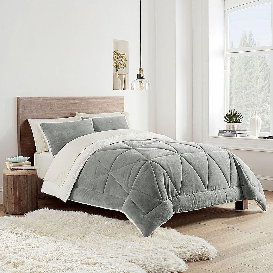 Ugg Avery 3 Piece Reversible Comforter Set Bed Bath Beyond Comforter Sets Twin Comforter Sets King Comforter Sets