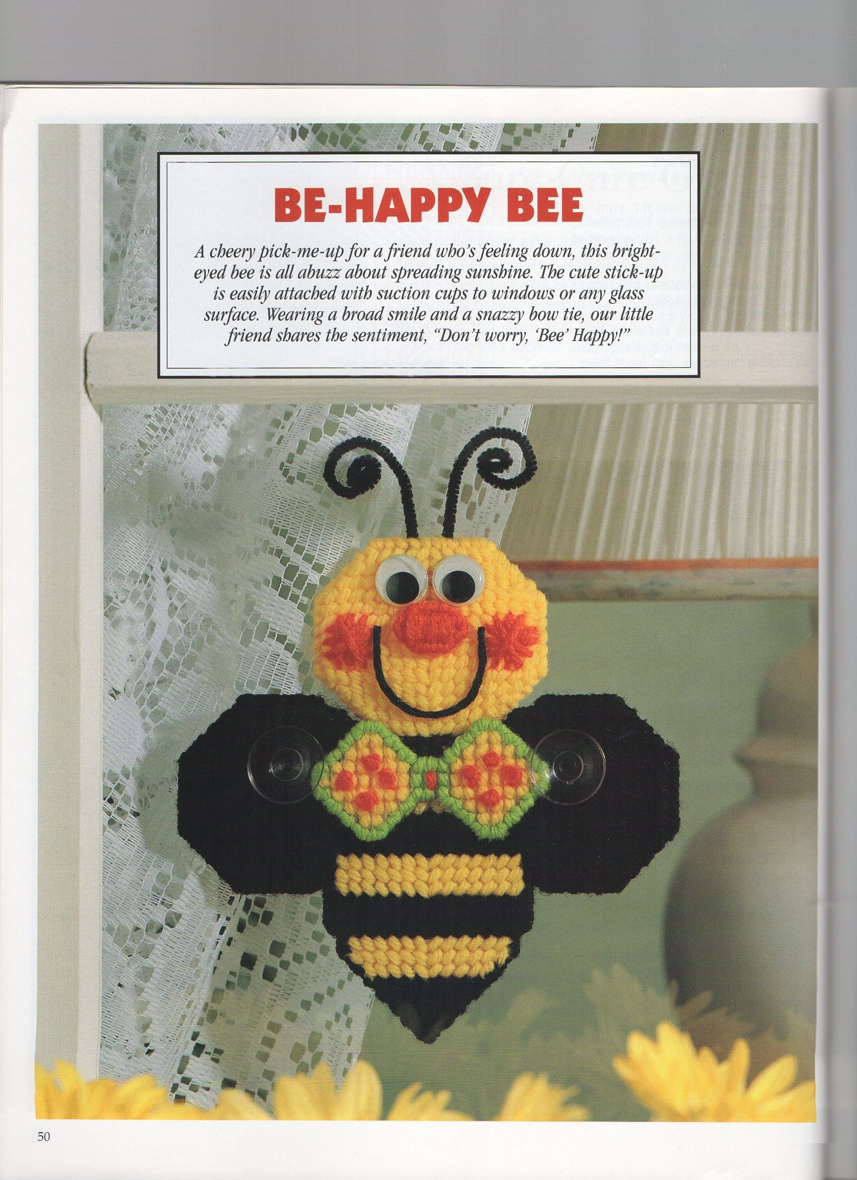 Be happy bee 1 free graph 914 plastic canvas crafts