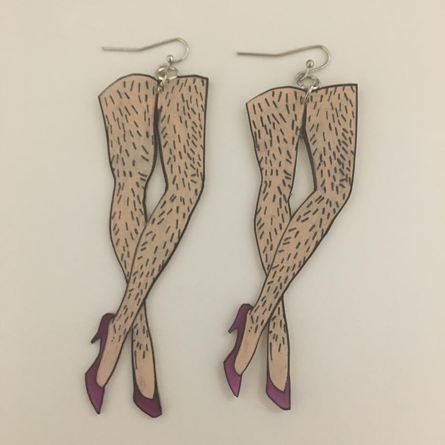 Club hairy female legs