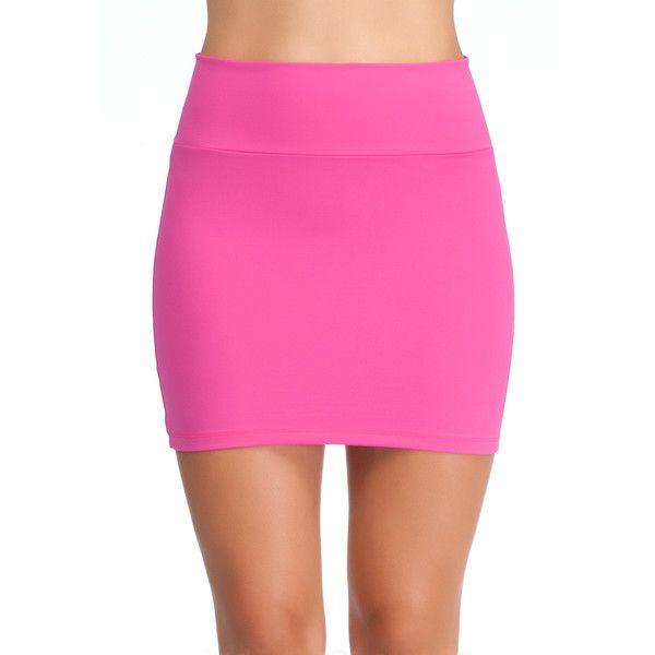 Bebe High Waisted Miniskirt ($49) found on Polyvore