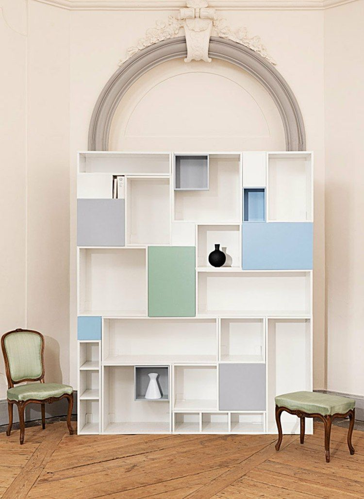meubles ikea personnaliser biblioth que modulable avec espace de rangement meuble. Black Bedroom Furniture Sets. Home Design Ideas