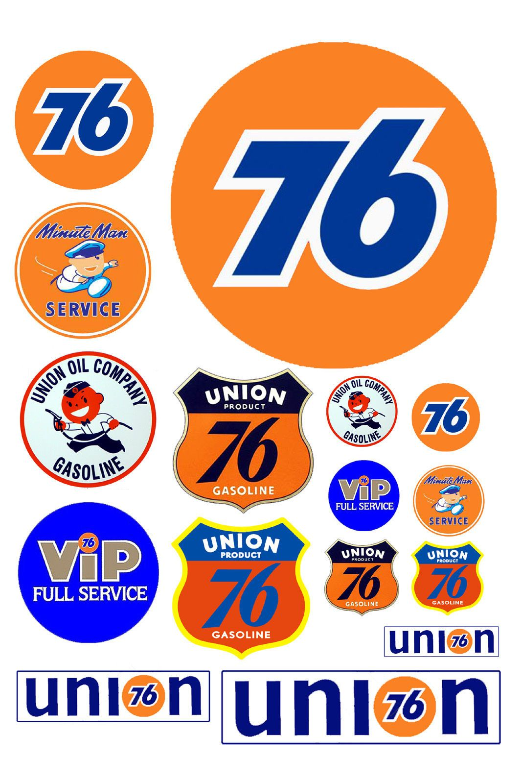 1 25 G Scale Union 76 Gas Station Signs Model Railroading Gas
