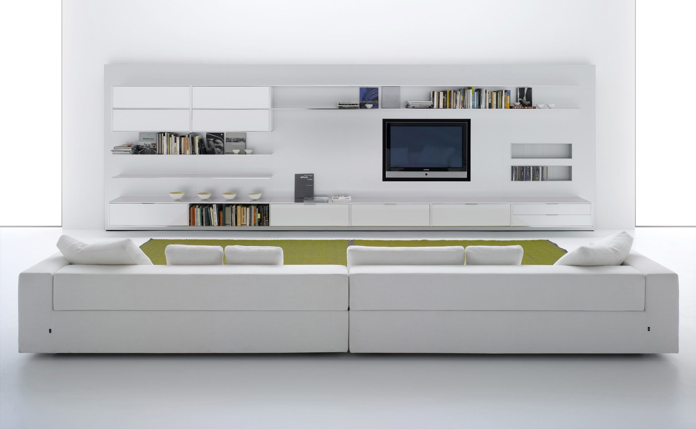 Gentil Contemporary TV Wall Unit / Aluminum / MDF / Modular   ELEVENFIVE By Bruno  Fattorini