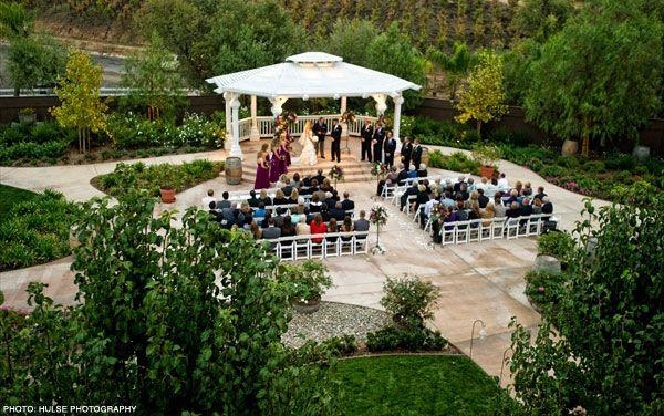 Wilson Creek Winery Vineyards Reception Venues Wedding Pergola Orange County Wedding Venues Wedding Venue Prices