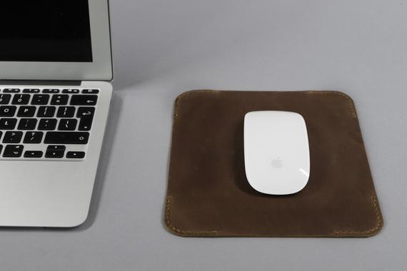 Real leather mouse mat custom mouse pad with monogram Personalized leather mouse mat Valentines gifts for boyfriend