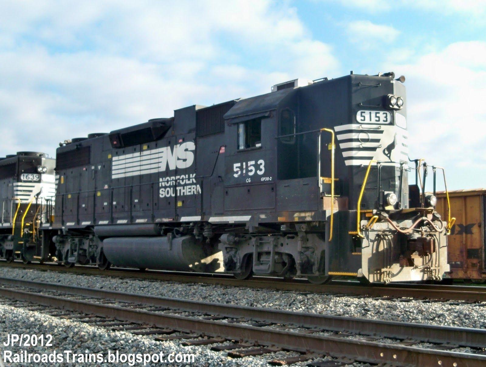 ns 5153 gp38 2 high hood emd train engine