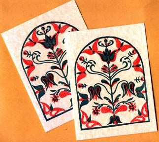 Idea For Printmaking Class German Folkart Antique Folk Art