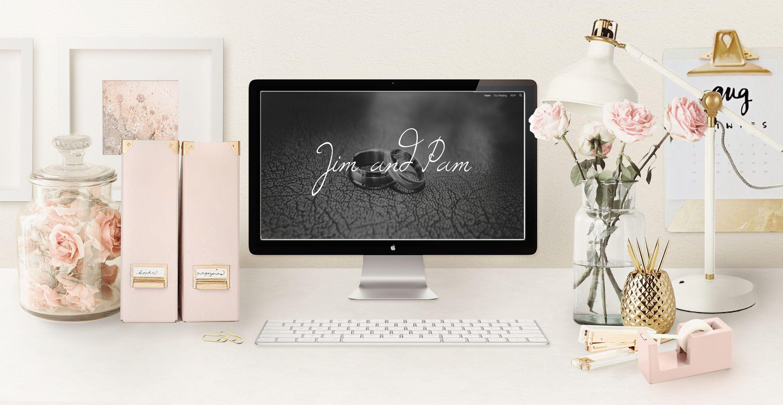 Modern Wedding Website, Custom Wedding Website, Wedding