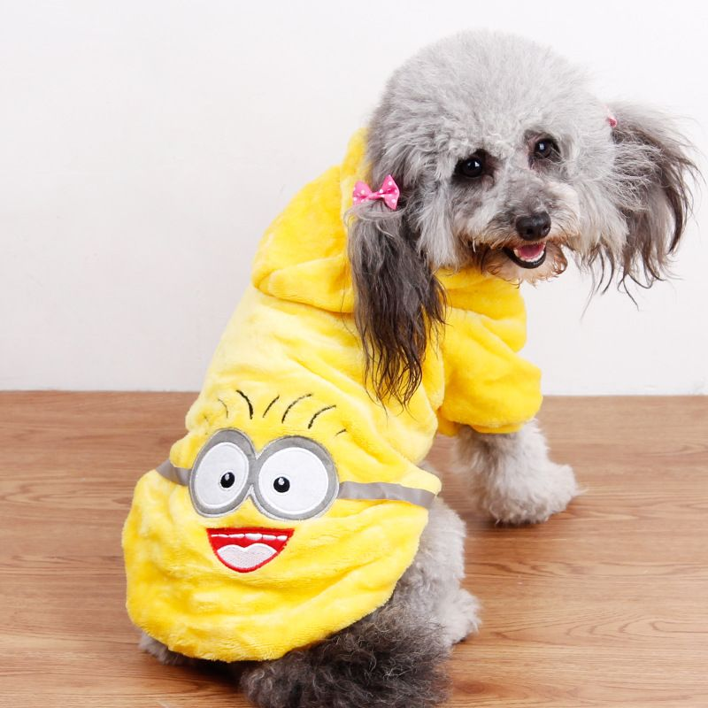 New Fashion Design Cartoon Pet Coat Cute Costume Pet Dog Clothes