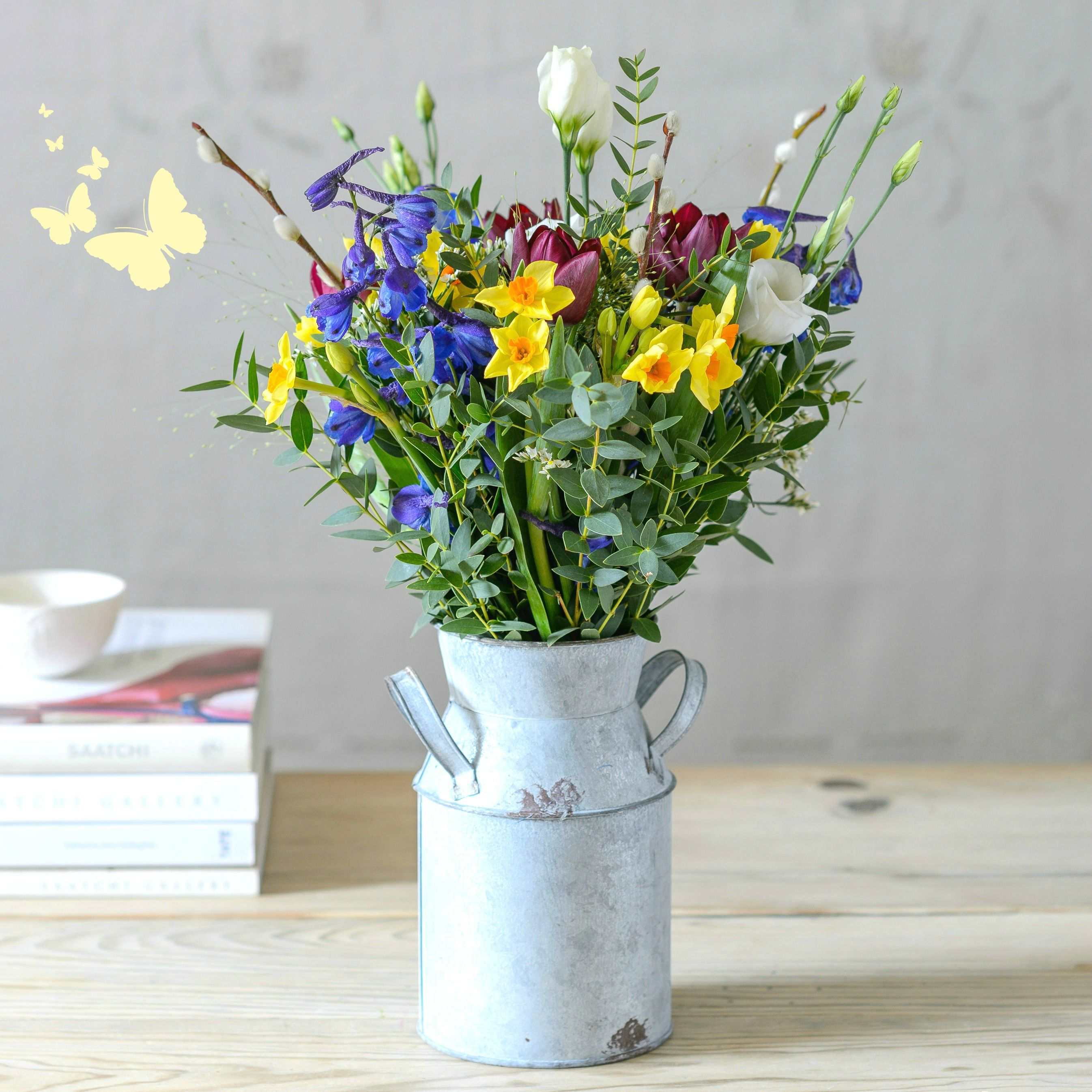 Spring Bundle Of Spring Flower Churn Spring Flowers
