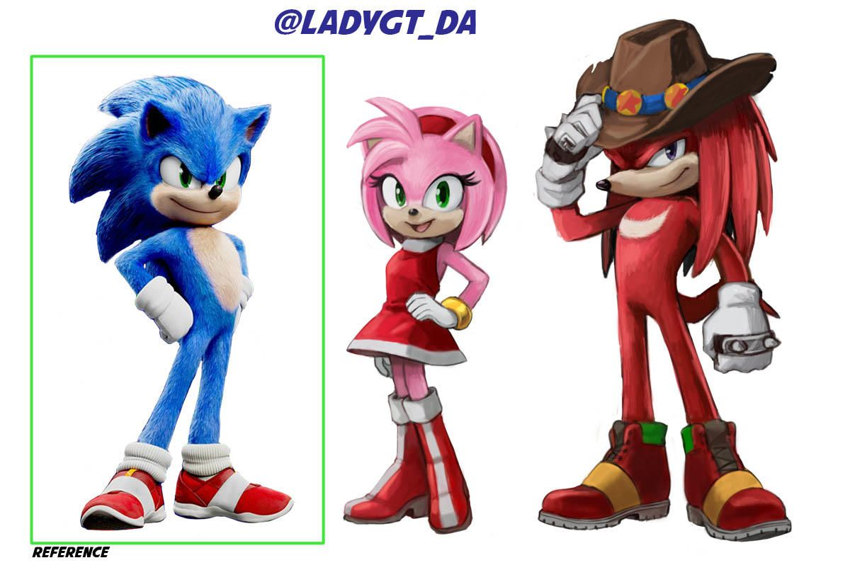 A Take On A Possible Live Action Version Of Amy And Knuckles In 2020 Sonic The Hedgehog Sonic Classic Sonic