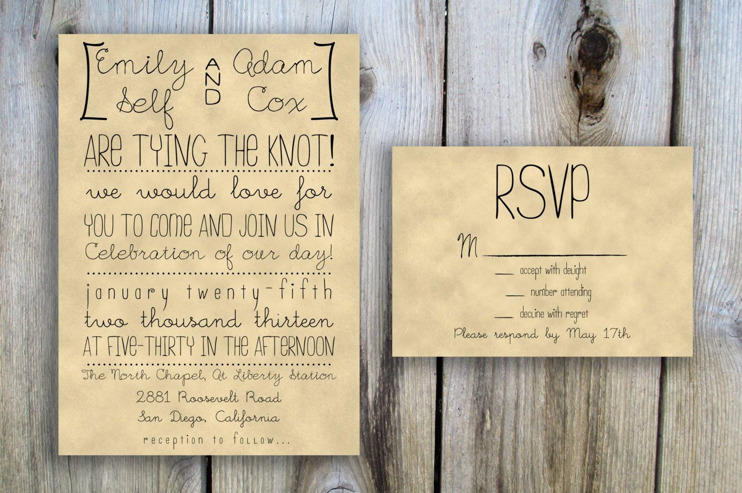 rustic vintage wedding invitations diy wedding decoration ideas - Rustic Vintage Wedding Invitations