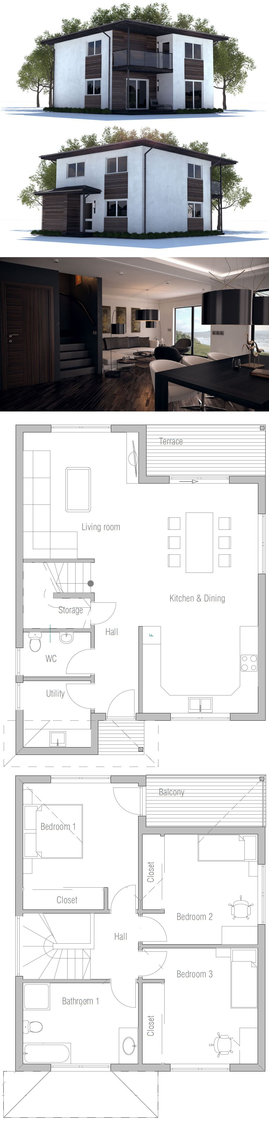 Small House Plan Small House Plans Pinterest Small house plans