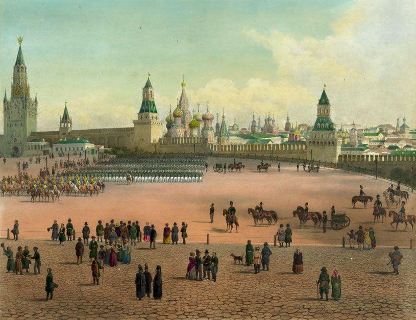 история красной площади и кремля