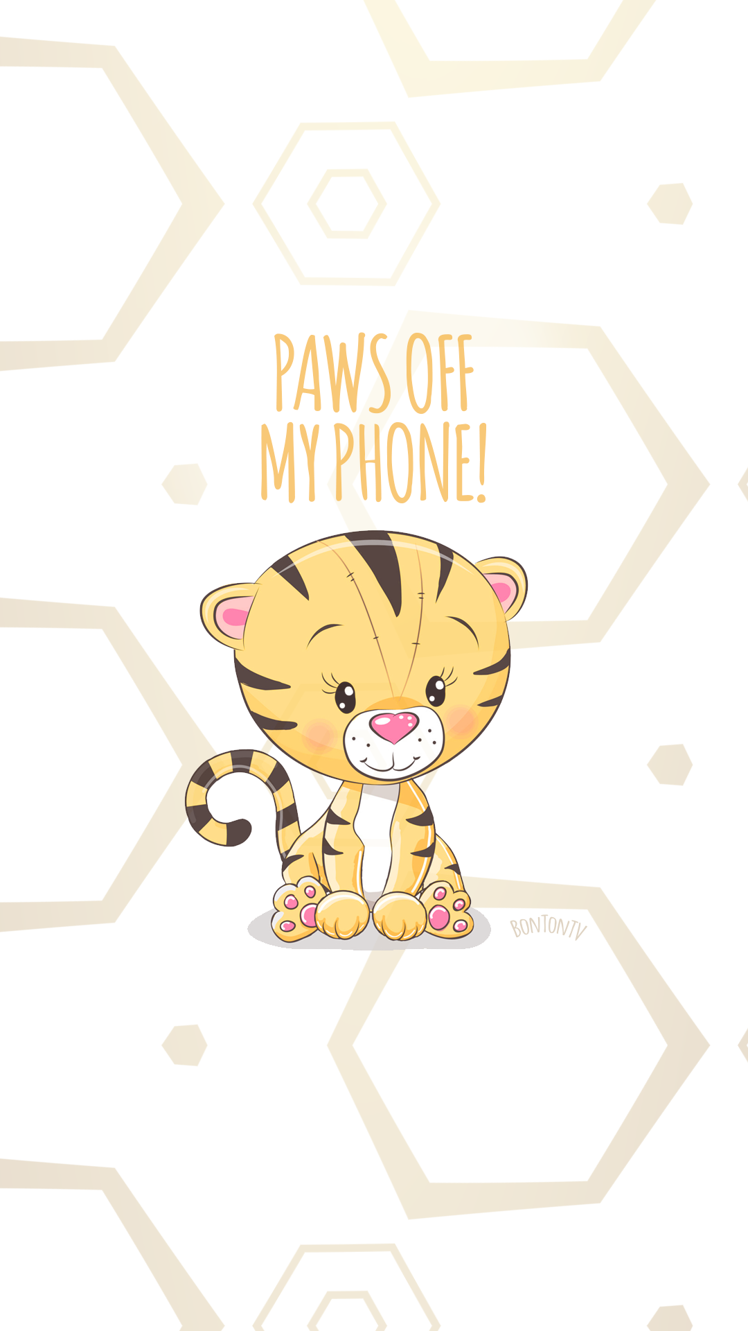 Phone Wallpapers Hd Cute Tiger By Bonton Tv Free Backgrounds 1080x1920 Wallpapers Iphone Smartphone Her Phone Wallpaper Iphone Wallpaper Cute Wallpapers