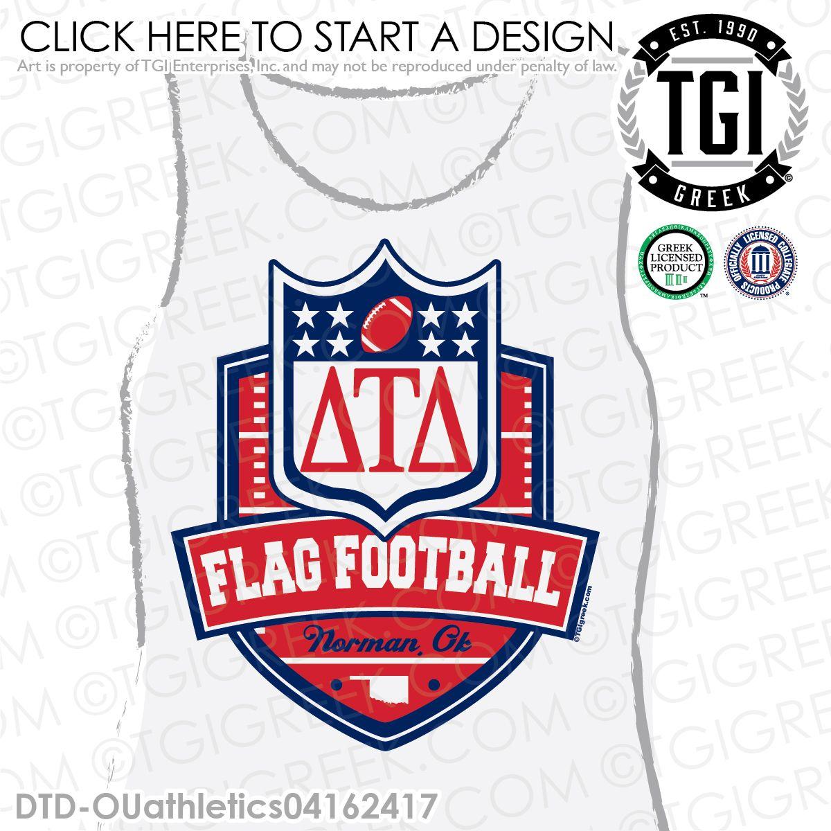 a30ecb32d TGI Greek - Delta Tau Delta - Flag Football - Greek Apparel  tgigreek   deltataudelta