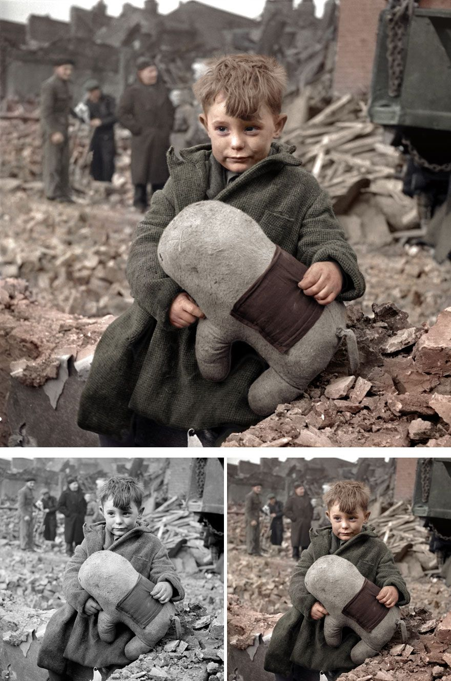English Orphan In London, 1945