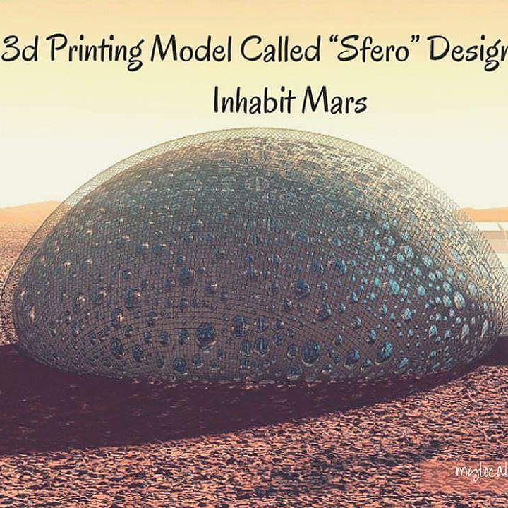 Something we liked from Instagram! French Design Firm Fabulous accepted NASA's challenge to design a 3d printing model to inhabit Mars. Sfero is the firm's latest technological breakthrough that brings architecture space travel and 3d printing technology to its glorious peak. Find out more about Sfero here: http://bit.ly/1Ful21z .  How about you? Are you ready to take up NASA's challenge and show your expertise in 3d Printing and Architecture? Take up NASA's challenge and start designing…
