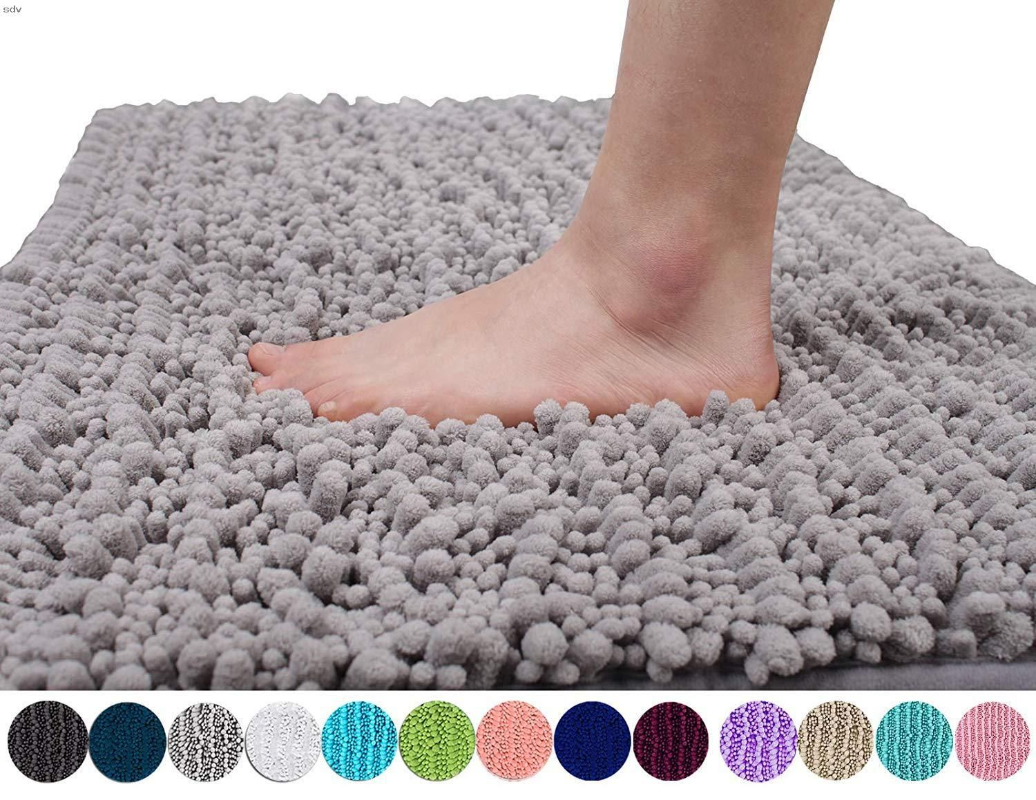 Yimobra Original Luxury Chenille Bath Mat Soft Shaggy And Comfortable Large Size Super Absorbent And Thick Non Slip Machine Washable Perfect For Bathroom [ 1159 x 1500 Pixel ]