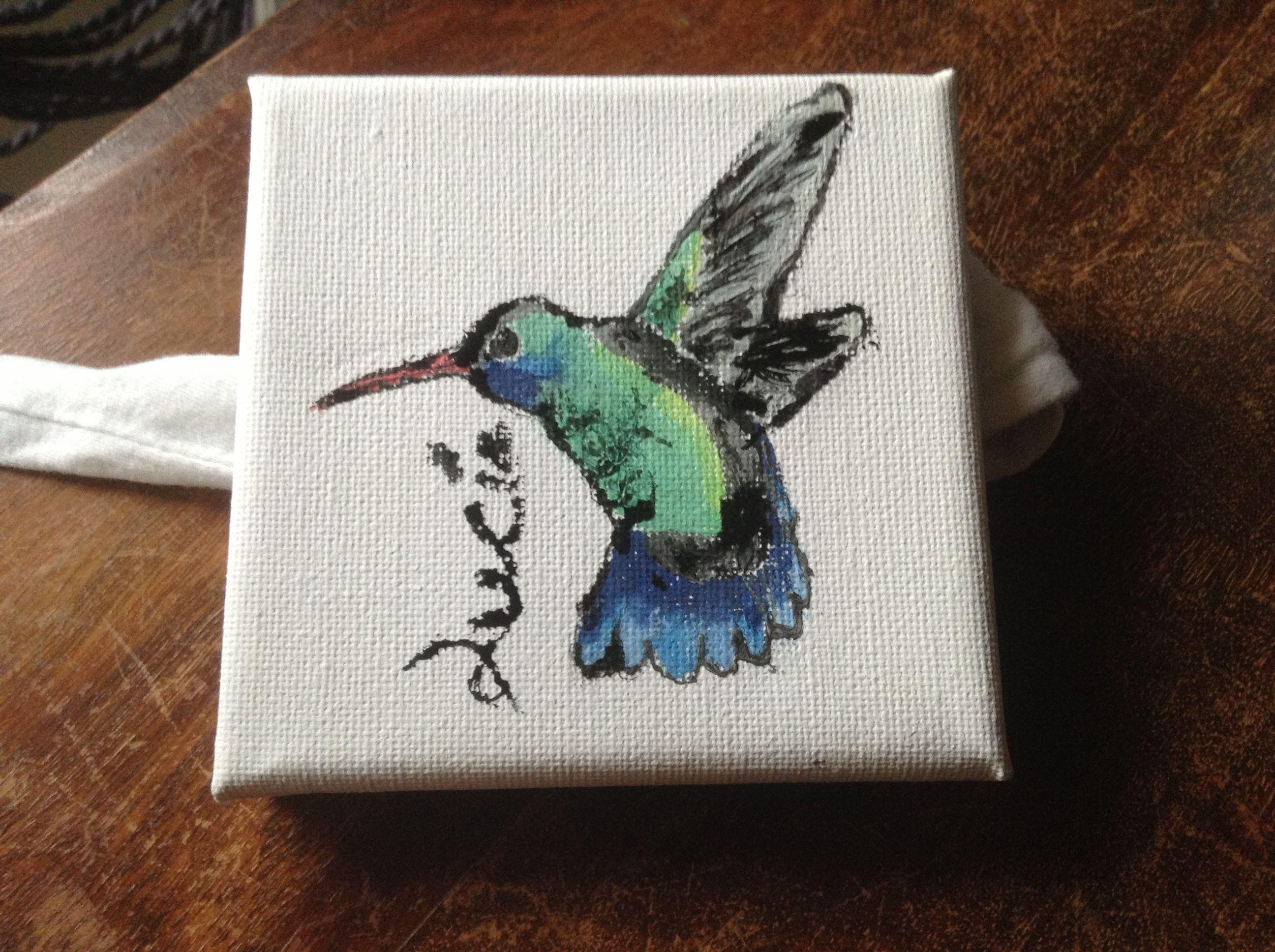 Dibujo de colibrí por: lucía kahayan