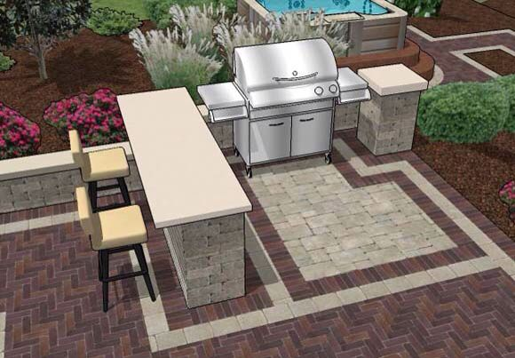Built In Bbq Outdoor Bar And Grill Patio Design Patio