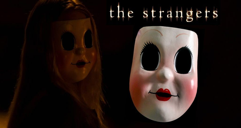scary doll mask the strangers prop mask horror film props memorabilia movie props