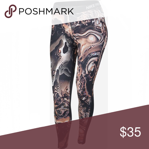 2df5b473e74b1 Nike Pro Cool Capris leggings in marble print NWT Nike Pro Cool Capris  leggings in marble print. Incredible fit, style, and performance.