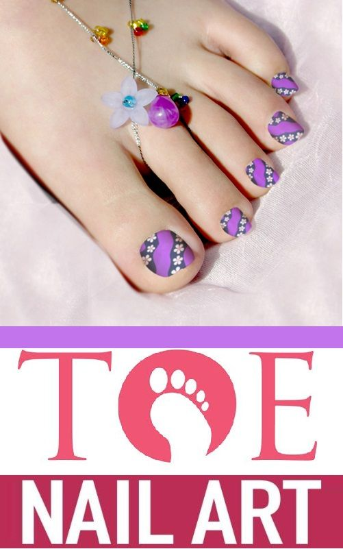 12 Nail Art Ideas For Your Toes | Toe nail art, Pedicures and Toe ...