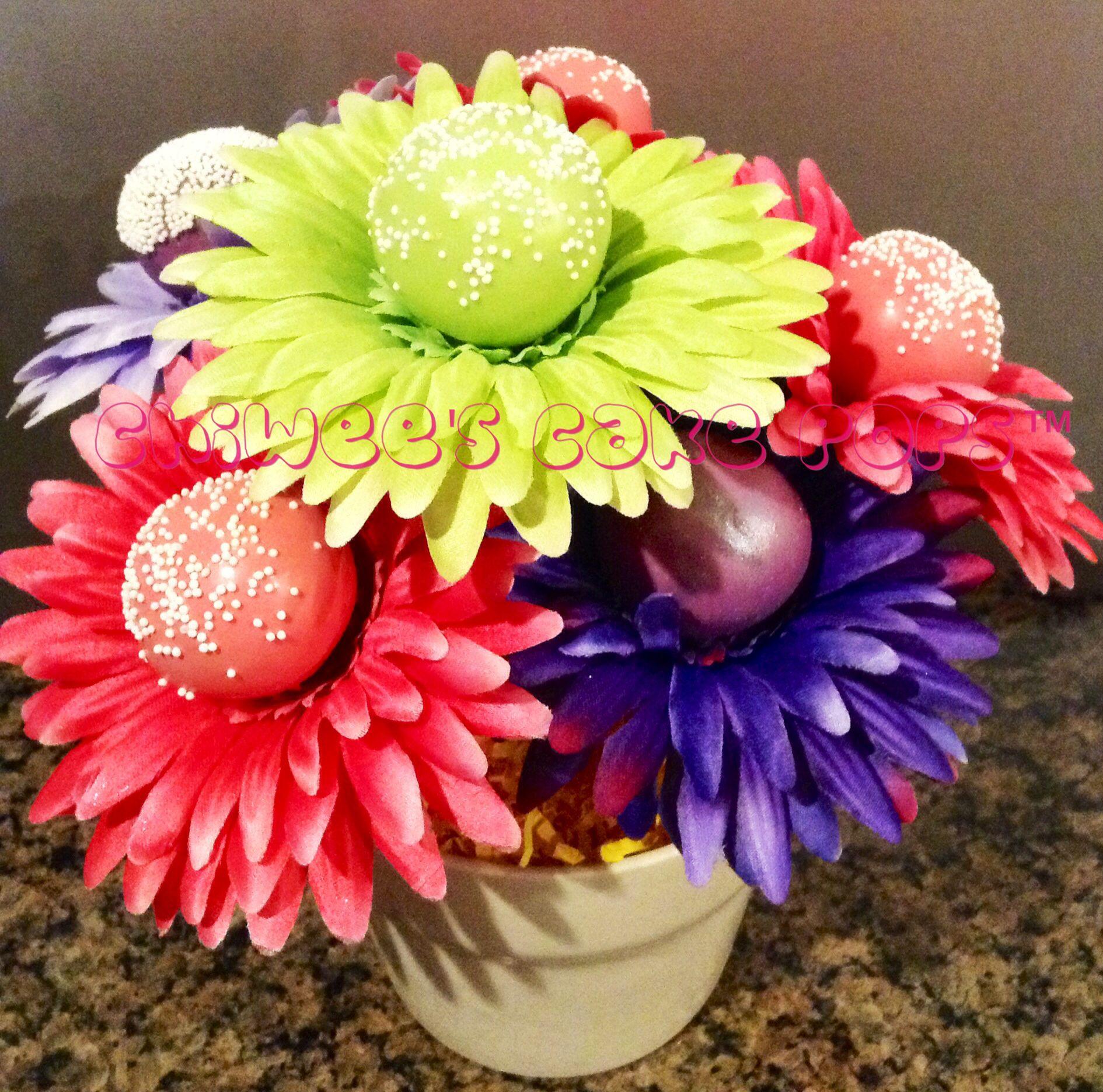 Cake Pop Flower Bouquet Party Decorations Pinterest Flower
