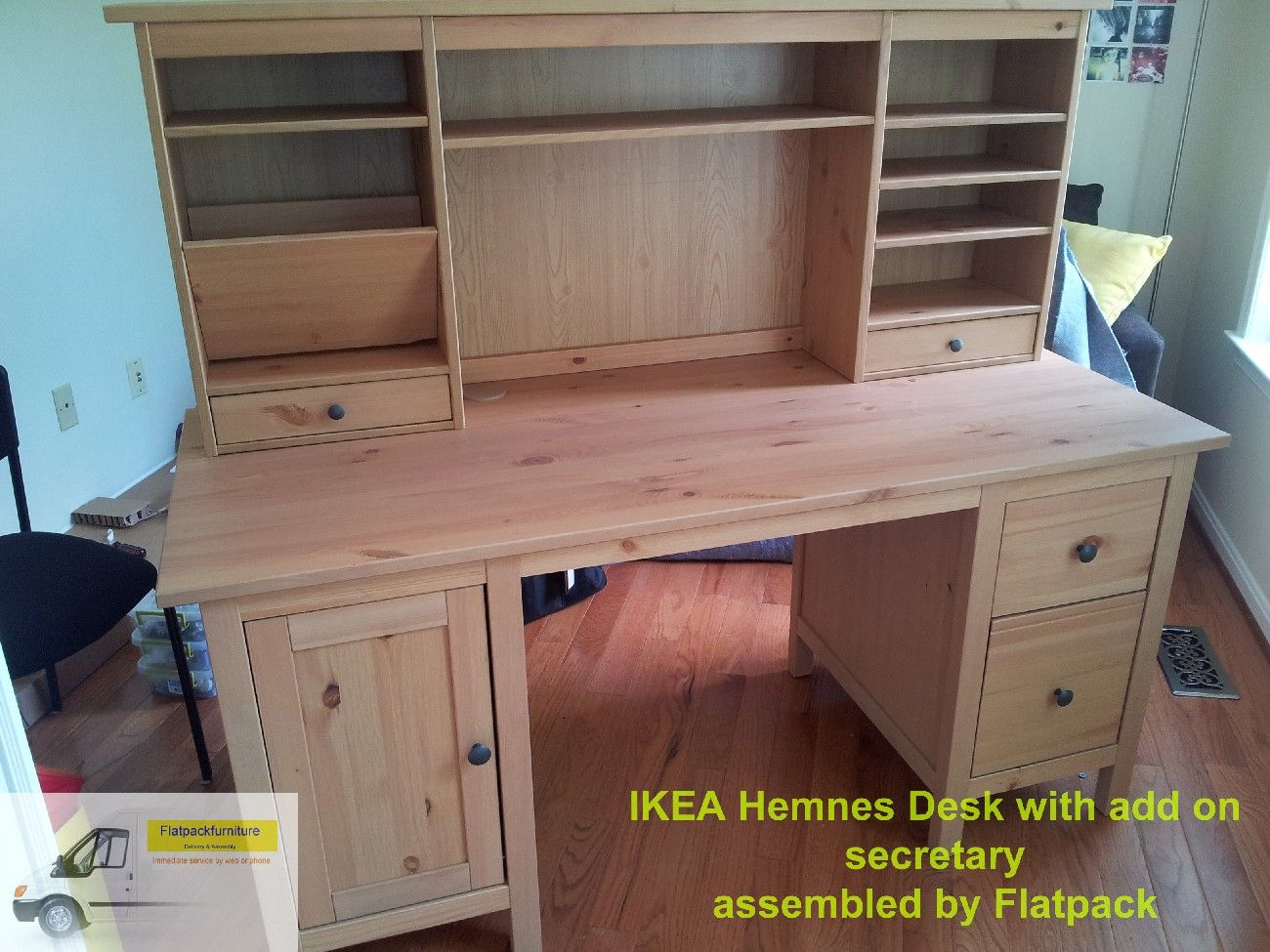 Ikea hemnes desk with add on unit article number: 591.225.23 best f