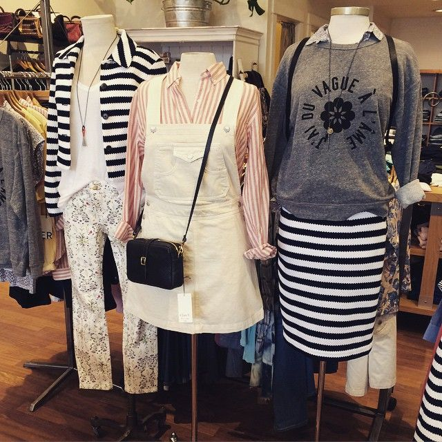 Stripes and prints for spring! At @hotboxbetty in downtown Bend.
