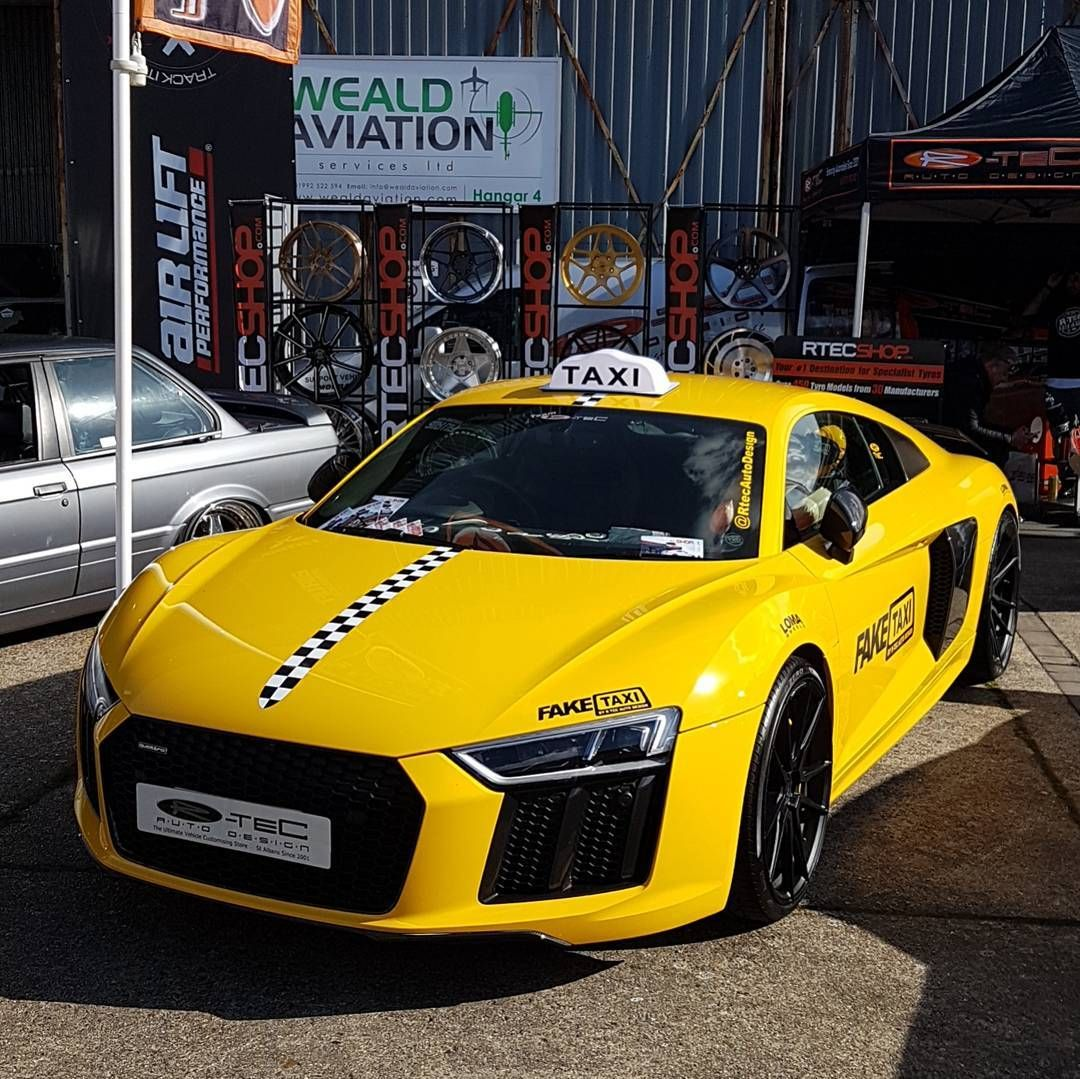 The Rtecautodesign Audi R8 Taxi On Lomawheels This Afternoon At Playersshow Faketaxi Audir8 Taxi Uber
