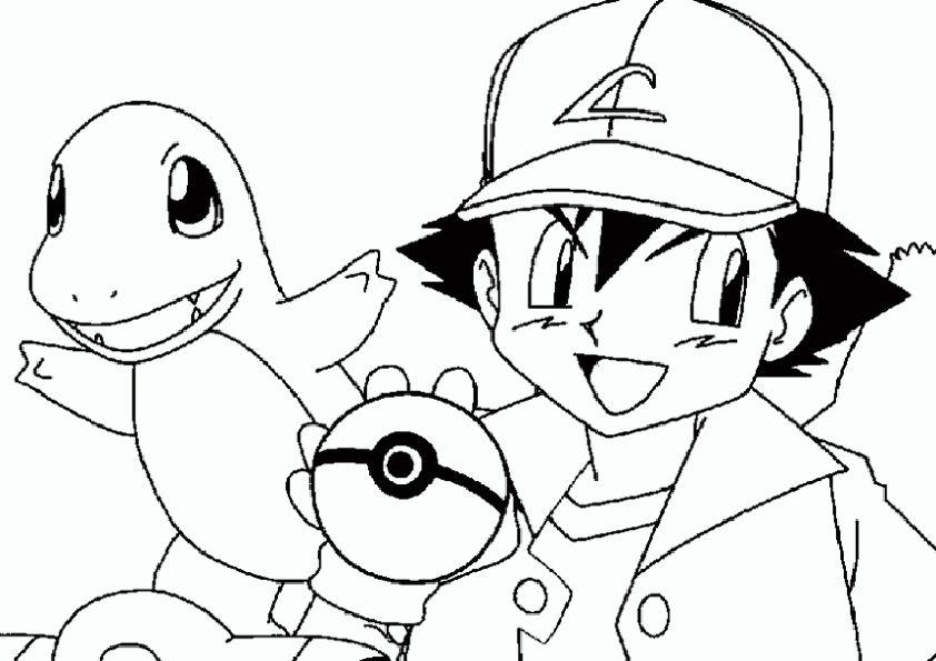 Ausmalbilder Pokemon Ash Pikachu Ash Pikachu Pokemon