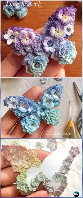 25 Crochet Butterfly Free Patterns [Picture Instructions] #crochetflowers