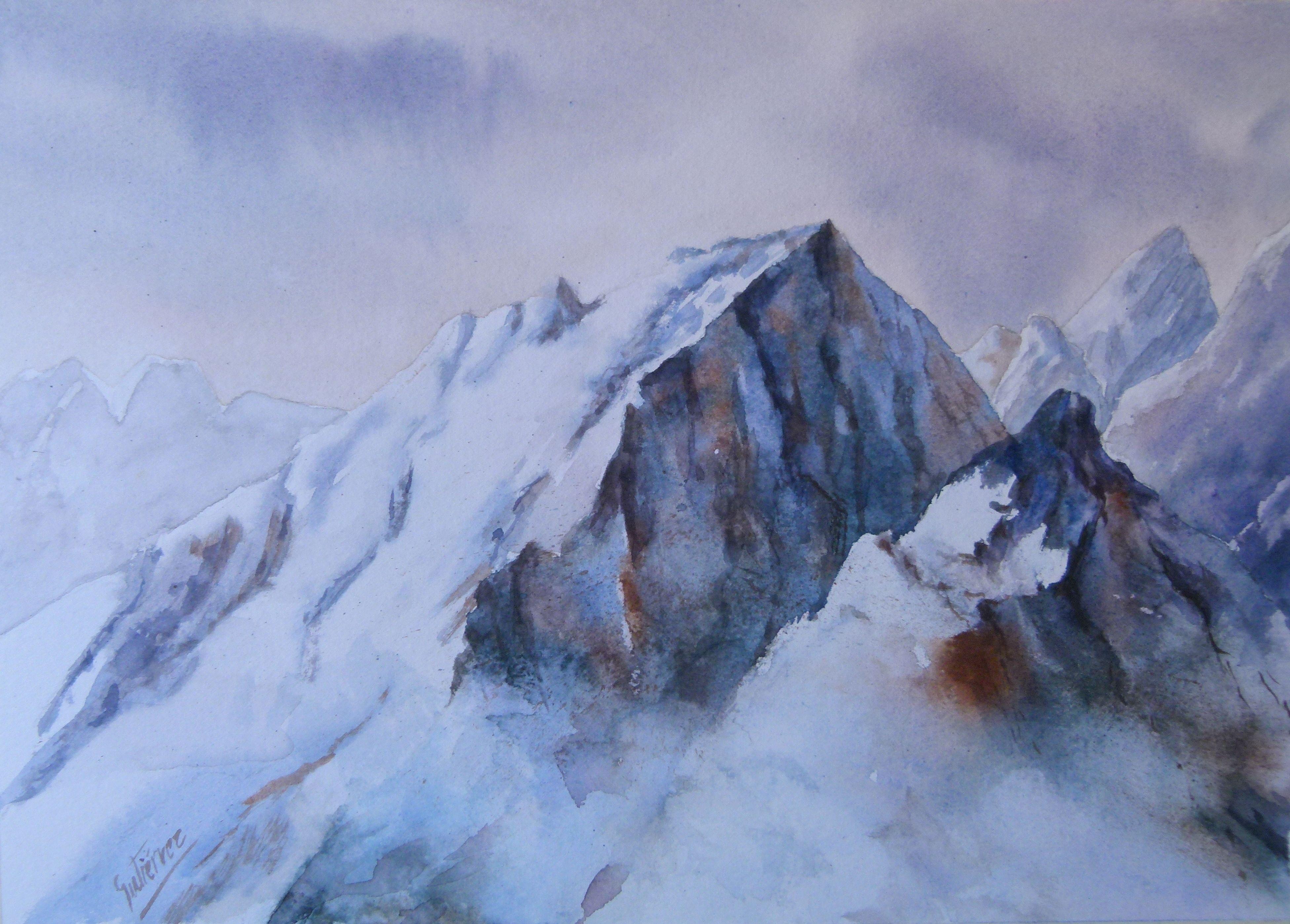 monta u00f1as en acuarela  mountains in watercolor