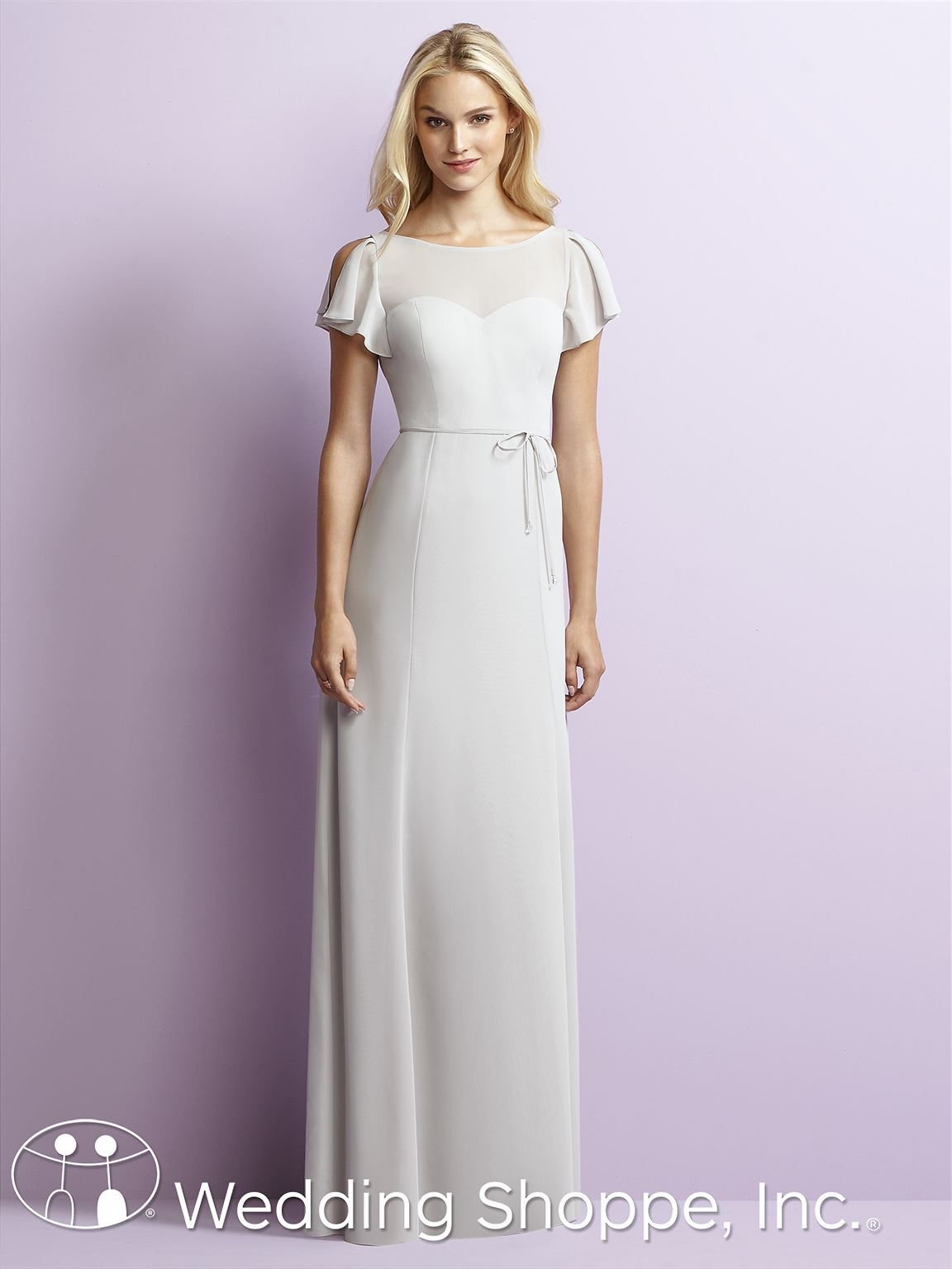 Jenny Yoo By Dessy Bridesmaid Dress JY518 | Illusion neckline ...