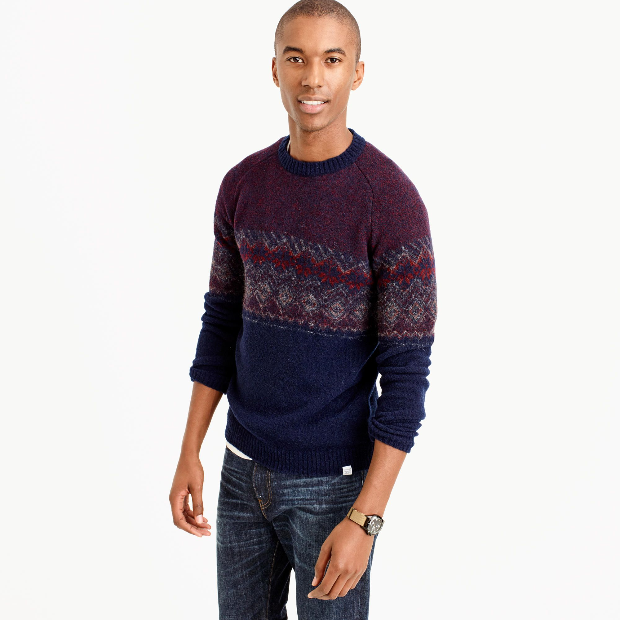 Norse Projects™ Birnir Fair Isle sweater : J.Crew In Good Company ...