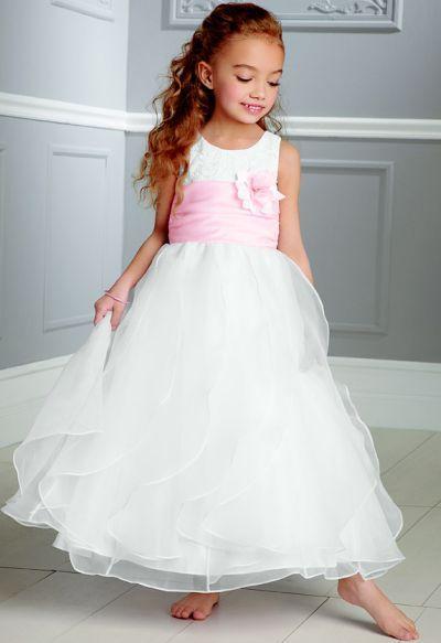 a81f311984 Jordan Sweet Beginnings Layered Organza Flower Girl Dress L893 ...