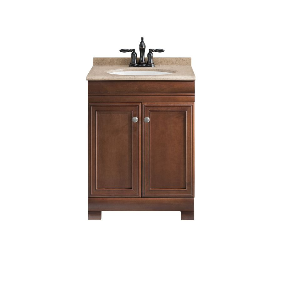 Shop Style Selections Windell Auburn Integral Single Sink Bathroom