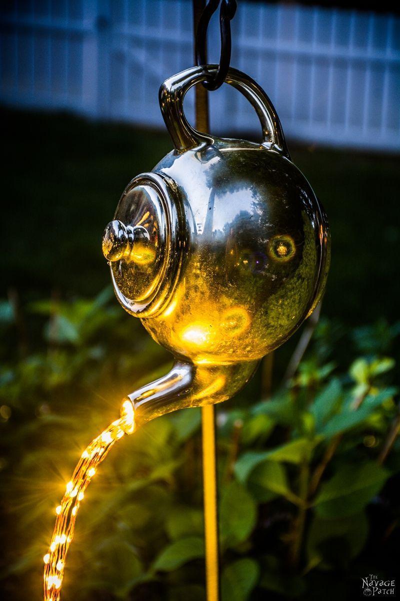 Diy Spilling Solar Lights Teapot Lights Easy Budget 400 x 300