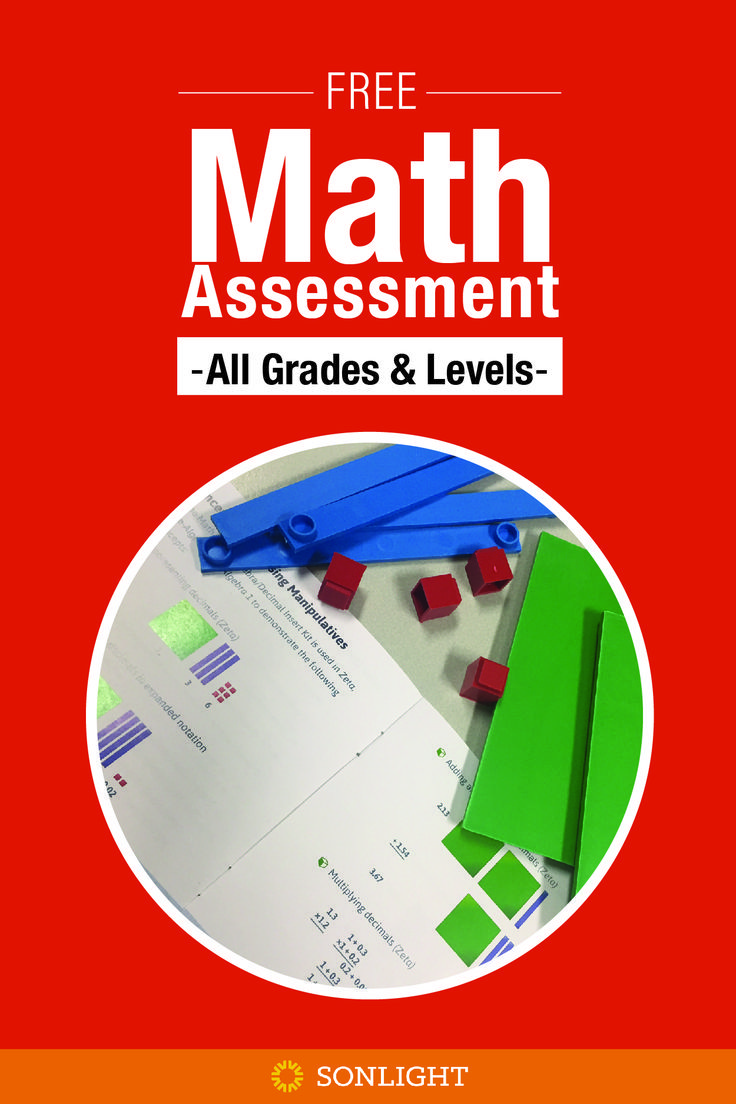 Free Math Placement Tests for all levels from grade 1 to pre