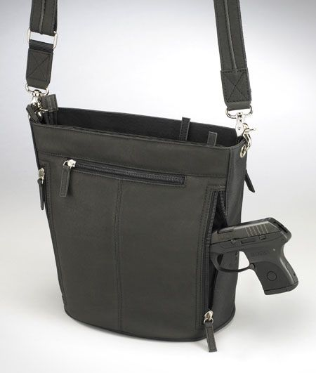 Black Tote Concealed Carry Purse