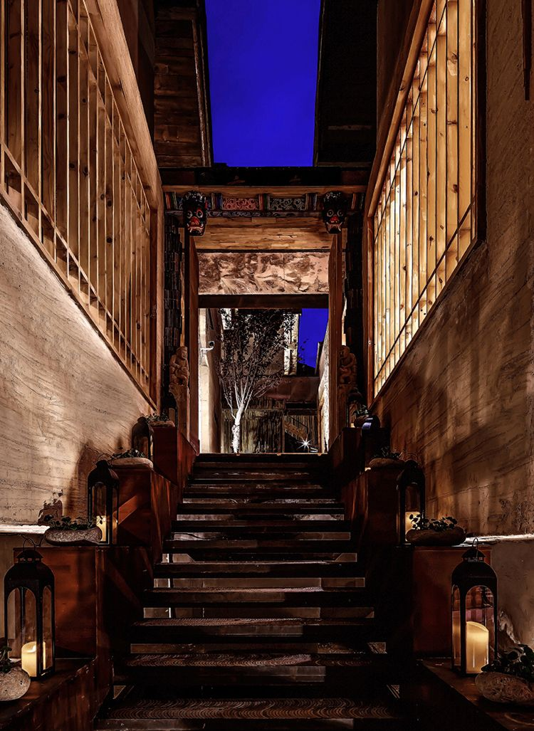 zen design indirekte beleuchtung treppe aussen laternen kerzen - hotelzimmer design mit indirekter beleuchtung bilder