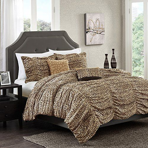 African Safari Print Bedding Comforter Sets Leopard Print