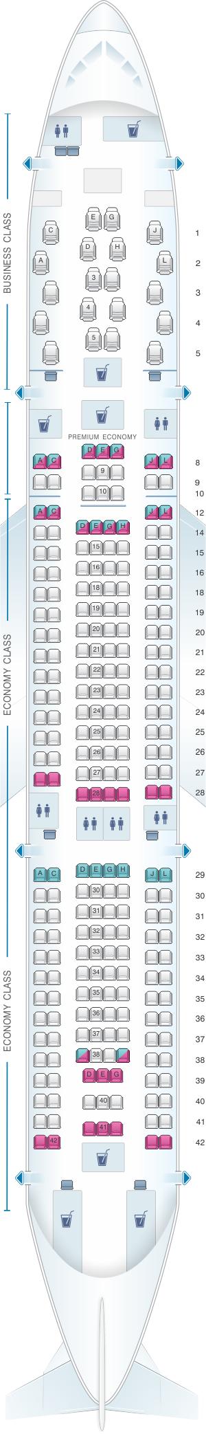 Seat Map Alitalia Airlines Air One Airbus A330 200 Air