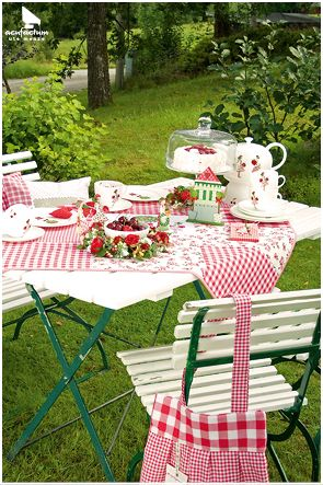 tischdeko aus sommerland acufactum sommer garten sommergarten teller tasse tisch. Black Bedroom Furniture Sets. Home Design Ideas
